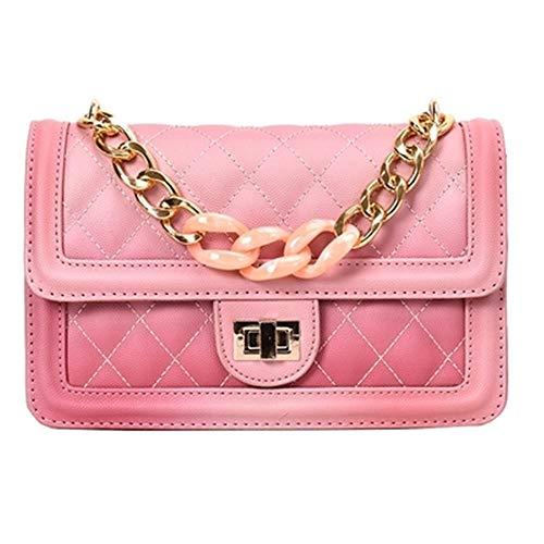 (Women Classic Quilted Crossbody Purse Shoulder Bag Golden Chain Satchel Handbag)