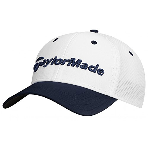 (TaylorMade Golf 2017 performance cage hat white/navy l/xl)
