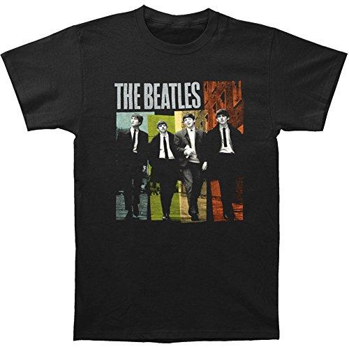 The Beatles - Black Ties Color T-Shirt - (Beatles Black T-shirt)