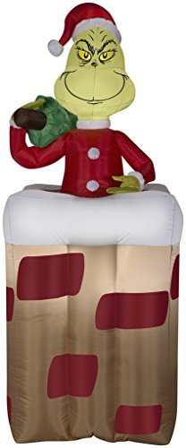 Gemmy 30949 Christmas Animated Airblown Inflatable Grinch, 6' -