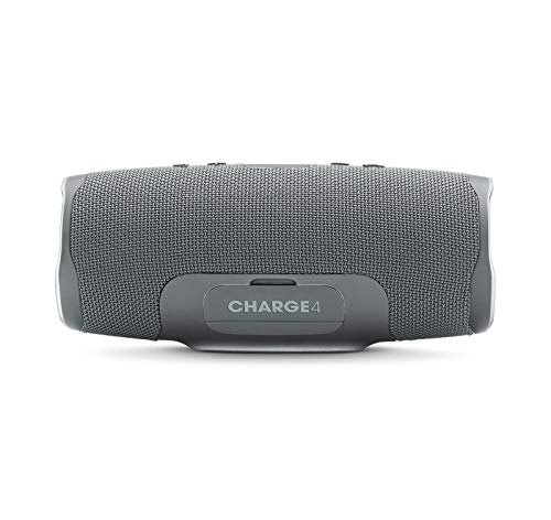 JBL Charge 4 Portable Waterproof Wireless Bluetooth Speaker Bundle with divvi! Charge 4 Protective Hardshell Case - Gray