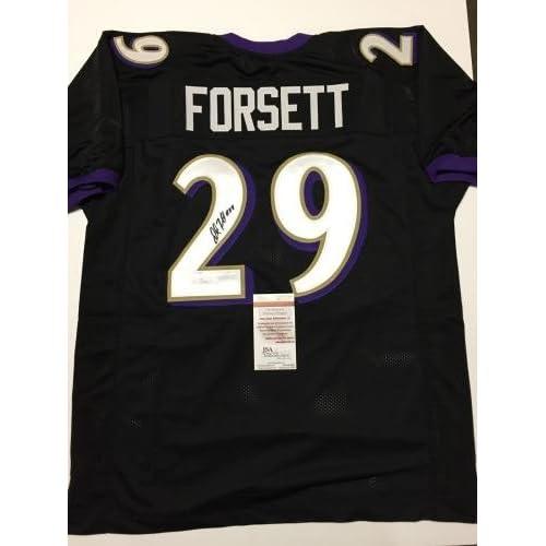 timeless design cc4bb e5674 low-cost Justin Forsett Signed Jersey - Black Custom COA ...