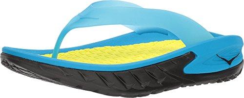 - HOKA ONE ONE Mens Ora Recovery Flip Black/Process Blue Thong Sandal 11 D US