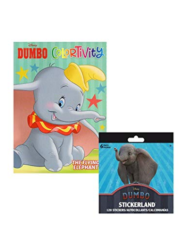 Dumbo The Flying Elephant Colortivity - Coloring Book with Stickerland Book 120- Stickers