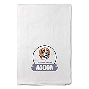 Style In Print Custom Decor Flour Kitchen Towels Mom Pyrenean Mastiff Dog Pets Dogs Cleaning Supplies Dish Towels Design Only 10