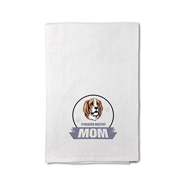Style In Print Custom Decor Flour Kitchen Towels Mom Pyrenean Mastiff Dog Pets Dogs Cleaning Supplies Dish Towels Design Only 1