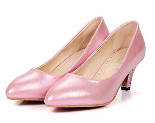 della le basso tacco chiuso XIE 38 Shallow piedi pattini svago pink 36 PINK Court Confortevole bocca dei dita RvwxqFqS