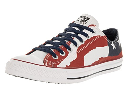 Converse Unisex Chuck Taylor Flag Ox Freedom Bars and Stars Red/White/Blue 148835F (US Men 10.5/Women 12.5)