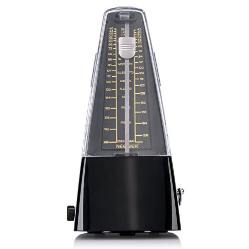 - Neewer NW-707 Traditional Wind Up Mechanical Metronome for Piano Guitar Bass Drum Violin and Other Musical Instruments (Black)