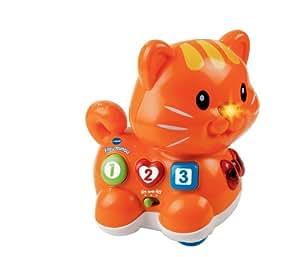 Vtech 122905 - Juguete electrónico, diseño de gatito miau miau (versión en francés)