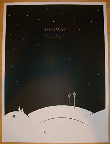 2011 Mogwai - NYC Silkscreen Concert Poster by Jason Munn
