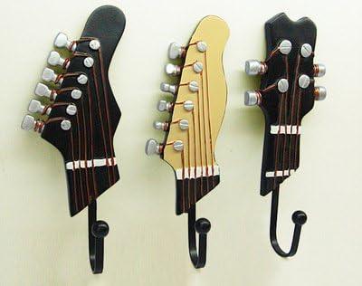 Vejaoo Juego de 3 Ganchos Decorativos Guitarra Forma Vintage ...