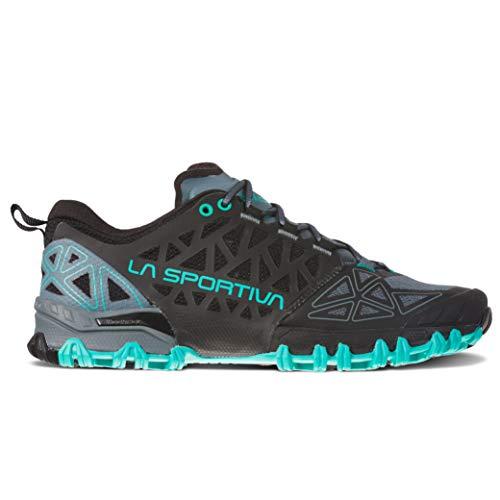 La Sportiva Bushido II Women's Running Shoe, Slate/Aqua, 41.5