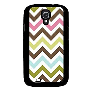 Cool Painting Chevron Multi Color Round Samsung Galaxy S4 I9500 Case Fits Samsung Galaxy S4 I9500