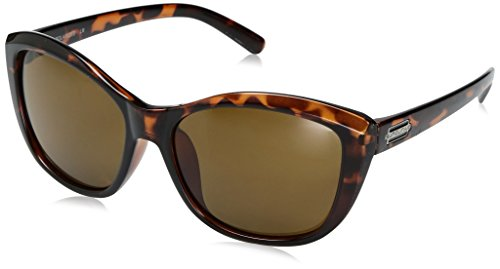 Suncloud Skyline Sunglasses, Tortoise Frame/Brown Polycarbonate Lens, One - Tortoise Brown