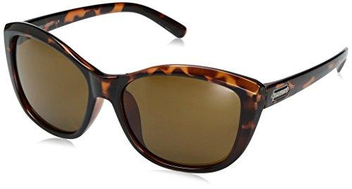 Suncloud Skyline Sunglasses, Tortoise Frame/Brown Polycarbonate Lens, One - Brown Tortoise