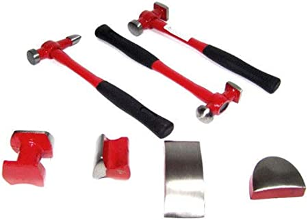 7 PC AUTO BODY FENDER DOLLY BUMPING HAMMERS HEAVY DUTY
