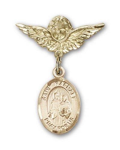 Icecarats Or Bijoux De Créateurs Rempli R. Raphael La Broche Badge Archange Charme D'Ange 1 X 3/4