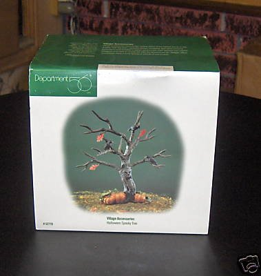 Department 56 Village Accessories Halloween Spooky Tree]()