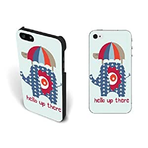 Cute Animal Design Iphone 5 Case with Quotes Fashion Turtle Umbrella Elephant Hard Plastic Iphone 5s Case Skin Personalized for Girls