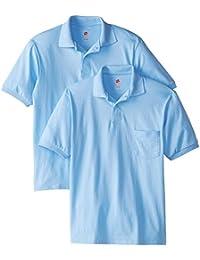 Men's Short-Sleeve Jersey Pocket Polo (Pack of 2)