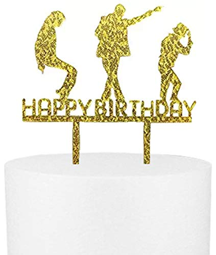 CaJaCa Happy Birthday Gold Cake Topper Michael Jackson Birthday Party -