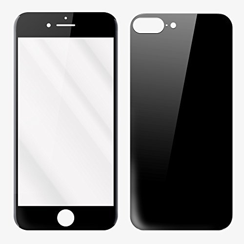 ReVolt Torpedo - Tempered Glass Front & Back Screen Protector for Apple iPhone 7 Plus - Jet (Screen Protector Jet)