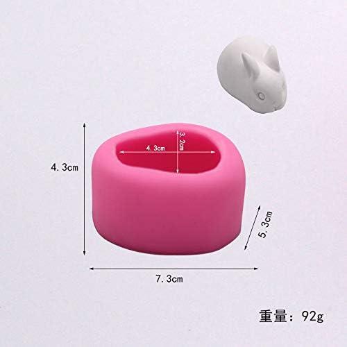 3D Little White Rabbit Silicone Mold/—DIY Fondant Cake Mold/—Kitchen Baking Tools