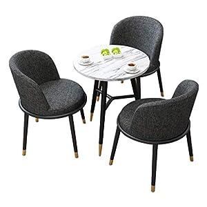 HEMFV Mobili Dinette Cucina Colazione Bar Set Pranzo Tavolo e sedie Modello Cornice di Chiusura in Legno Metallo for… 4 spesavip