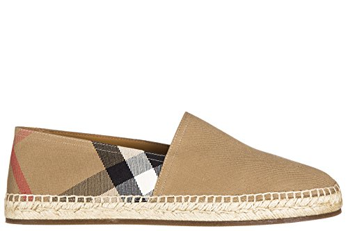 Burberrys men's cotton espadrilles slip on shoes beige US...