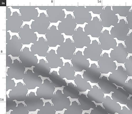 (Spoonflower Dog Fabric - Dog Pattern Dogs Pet Pet Friendly Dog Silhouette German Pointer by Petfriendly Printed on Petal Signature Cotton Fabric by The Yard)