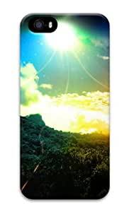 Colorful sky 3D Case coolest iphone 5S cases for Apple iPhone 5/5S by runtopwell