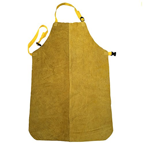 Genuine Leather Welding Apron for Welder (Yellow) by zojo