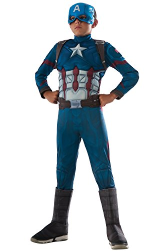 Rubie's Costume Captain America: Civil War Deluxe Captain America Costume, (Costumes Of America)