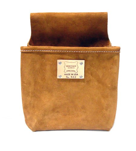 Heritage Leather (Heritage Leather 422 Single Pocket Professional Split Leather Nail Bag)