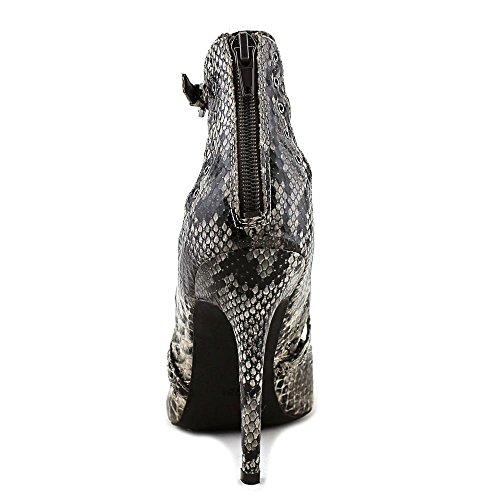 G Par Devinez Womens Farrell Bout Pointu Wrap Cheville Classique Pompes Taupe / Serpent