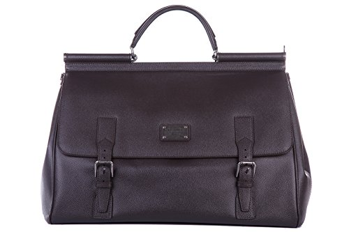 Sicily Dolce Gabbana (Dolce&Gabbana genuine leather travel duffle weekend shoulder bag sicily)