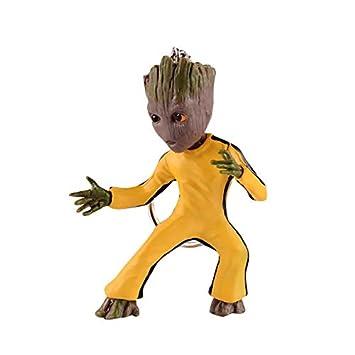 thematys® Baby Groot Llavero - Figura de acción de la película clásica - Perfecto como Regalo - I Am Groot (Traje Amarillo)