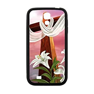 Pure red cloth big cross Cell Phone Case for Samsung Galaxy S4 by runtopwell