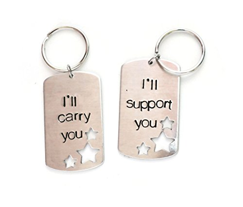 support and carry aluminum dog tag key chains with cut out stars