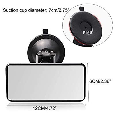PME Rear View Mirror for Backseat with Baby- in- Car Sticker, Interior Car Suction Cup Windshield Mirror Strong Sucker Rear View Mirror for Baby Infant Child New: Automotive