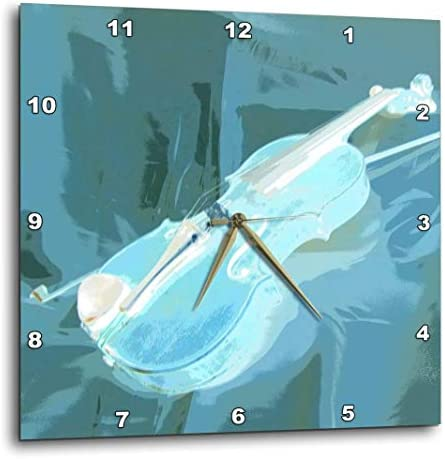 3dRose DPP_35221_1 Blue Violin Abstract-Wall Clock, 10 by 10-Inch
