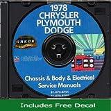 1978 Chrysler, Plymouth and Dodge CD-ROM Repair Shop Manual