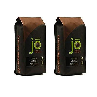 WILD JO: 12 oz, Dark French Roast Organic Coffee, Ground Coffee, Bold Strong Rich Wicked Good Coffee! Great Brewed or Cold Brew, USDA Certified Fair Trade Organic, 100% Arabica Coffee, from Jo Coffee