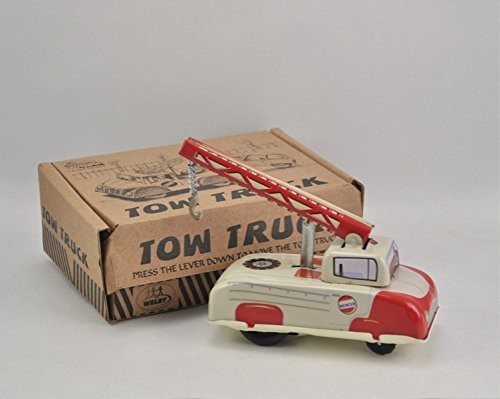 Karmakara Vintage Tin Spring Loaded Wind Up Tow Truck