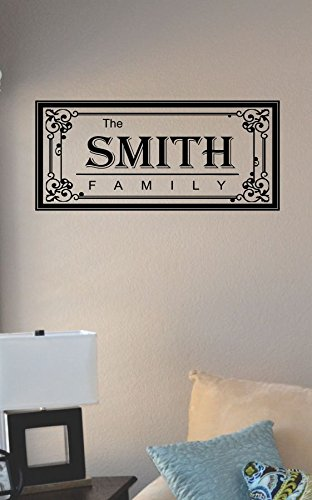 JS Artworks The Smith Family Last Name Vinyl Wall Art Decal Sticker