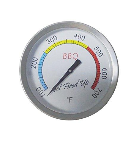 Broilmann Grill Thermometer, Heat Indicator, Heat Gauge for Minimax, Small, Medium, Large, XLarge, XXLarge Big Green Egg, 3