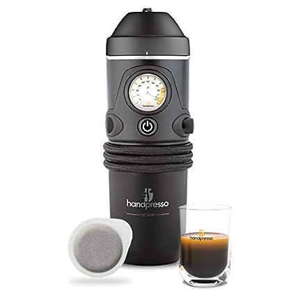 Handpresso 127015mobile Cafetera Eléctrica para el coche de para ese Pads y café molido, Negro