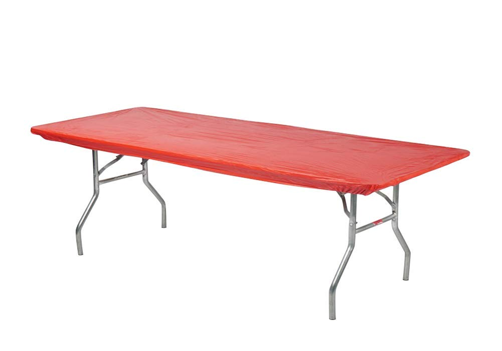 Red Kwik-Covers Rectangular Fitted Plastic Table Covers Blue 6 Feet Green 6 x 30