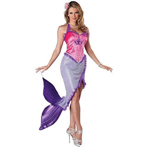 InCharacter Costumes Women's Beautiful Mermaid Costume, Pink/Purple, (Beautiful Mermaid Costumes)